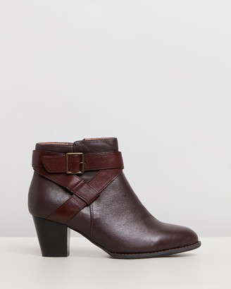 Vionic Women's Brown Heeled Boots - Trinity Ankle Boots - Size One Size, 5 at The Iconic