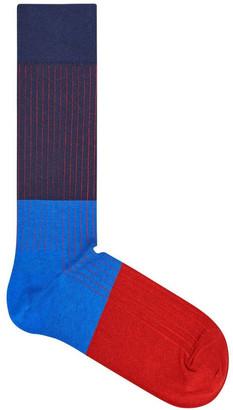 Happy Socks Essentials Colour Block Crew Sock BLR01-6001