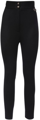 Dolce & Gabbana Sallia High Waist Stretch Pants W/ Logo