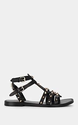 FiveSeventyFive Women's Studded Leather Multi-Strap Sandals - Black