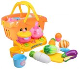 Youtop 19pcs Plastic Pretend Play Kitchen Appliance Cutting Vegetables Toy Playset for Kids w/