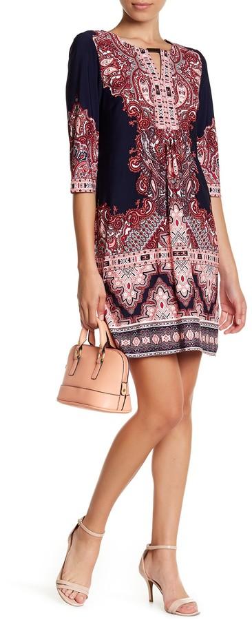 Sandra Darren Printed Jersey Dress (Petite)