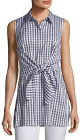 Lafayette 148 New York Mariel Hampton Check Shirting Blouse