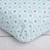 Caden Lane Blue Octagon Crib Sheet
