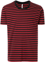 Attachment striped pocket T-shirt