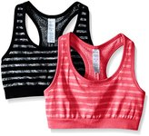 Jockey Women's 2 Pack Reversible Tonal Space Dye Seam Free Sport Bra