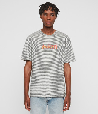 AllSaints Burner Stripe Crew T-Shirt