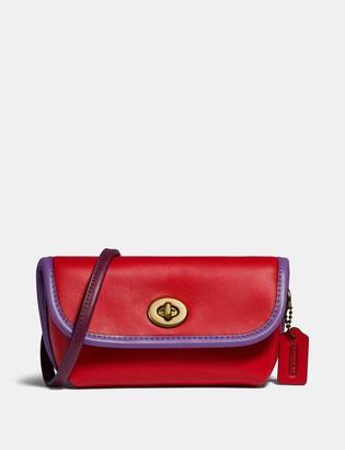 Coach Turnlock Flare Belt Bag In Colorblock