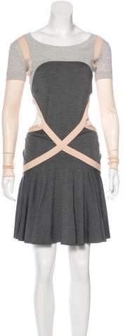 Alexander McQueen Long Sleeve A-Line Dress
