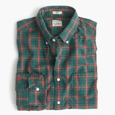 J.Crew Slim Secret Wash shirt in heather poplin green plaid