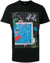 Diesel pool print T-shirt - men - Cotton - L
