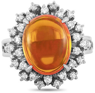 Heritage Platinum 4.41 Ct. Tw. Diamond & Opal Ring