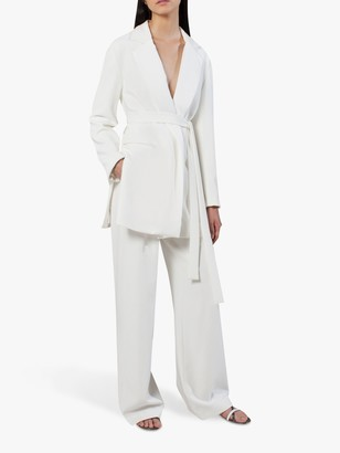 French Connection Amato Bridal Tux Wedding Suit Trousers, Summer White