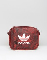 adidas Floral Print Mini Crossbody Bag With Trefoil Logo
