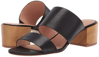 Madewell Kiera Two-Strap Mule Sandal (True Black) Women's Shoes