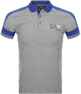 Emporio Armani Ea7 EA7 Logo Polo T Shirt Grey