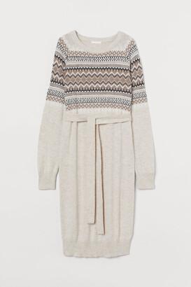 H&M MAMA Jacquard-knit dress