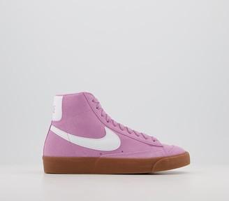 Nike Blazer Mid 77 Trainers Suede Beyond Pink White Gum Brown