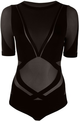 Wolford x adidas Motion panelled bodysuit