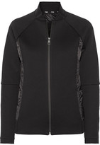 Fendi Roma Quilted Shell Down And Cotton-blend Jersey Jacket - Black