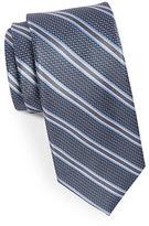 Black Brown 1826 Silk Textured Striped Tie