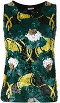 P.A.R.O.S.H. floral sequinned tank - women - Polyamide/Spandex/Elastane/PVC - S