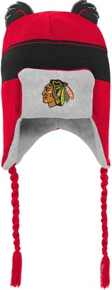 Outerstuff Preschool Red Chicago Blackhawks Stripe Ears Trooper Knit Trapper Hat