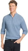 Izod Big & Tall Classic-Fit 7GG Cable-Knit Quarter-Zip Sweater