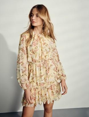 Forever New Katie Tiered Skater Dress - Vintage Lemon Floral - 10