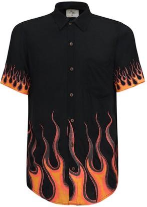 The People Vs Flame Printed Rayon Stevie Shirt
