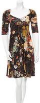 Just Cavalli Floral Print V-Neck Dress