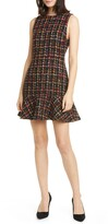 Alice + Olivia Sonny Tweed Ruffle Skater Dress