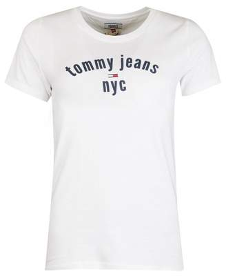 Tommy Jeans Nyc Essential Tommy T-shirt Colour: WHITE, Size: XS