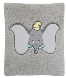 Disney Dumbo Sherpa Pillow With Applique Bedding