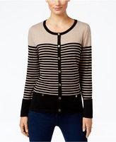 Karen Scott Petite Resort Striped Cardigan, Only at Macy's