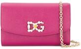 Dolce & Gabbana crystal-embellished logo clutch