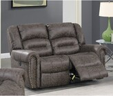 """Thumbnail for your product : Winston Porter Abinash 63"""" Round Arm Reclining Loveseat"""