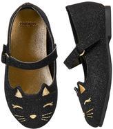 Gymboree Sparkle Cat Flats