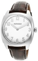 Movado 606587 39mm Stainless Steel Case Black Leather Anti-Reflective Sapphire Men's Watch