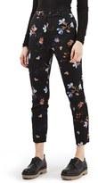 Topshop Women's Floral Print Cigarette Pants