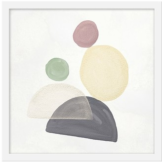 Pottery Barn Kids Abstract Pastel Shapes II Framed Art