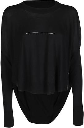 MM6 MAISON MARGIELA Curved Hem Sweater