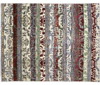 One-of-a-Kind Lona Ikat Hand-Knotted Wool Ivory Area Rug Isabelline