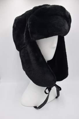Maison Atia Trapper Hat - Faux Fur Noir