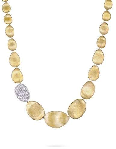 "Marco Bicego Diamond Lunaria 18k Gold Necklace, 18""L"