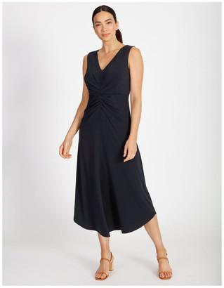 Basque Tuck Front Jersey Dress