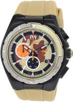 Technomarine Cruise Steel Camouflage Sand Men's Quartz Watch with Multicolour Dial Chronograph Display and Beige Silicone Strap 110072