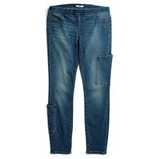 Tommy Hilfiger Women's Adaptive Seated Fit Jegging Jeans with Velcro and Adjustable Hems