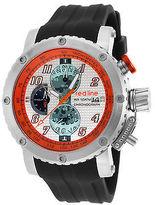 Redline Red Line 308C-02S-OA Men's GTO Chronograph Black Silicone Silver-Tone Dial