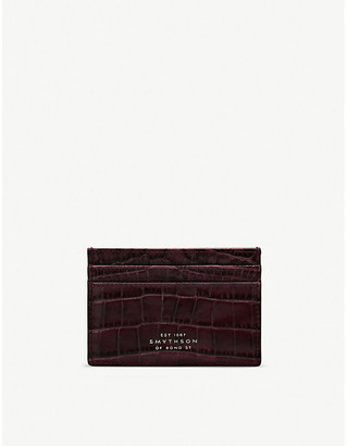 Smythson Mara leather card holder
